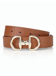 Woman Novelty-Buckle Reversible Belt