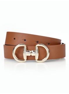 Woman Novelty-Buckle Reversible Belt