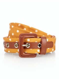 Womans Polka-Dot Necktie Belt