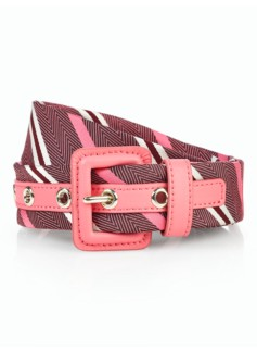 Womans Necktie Stripe Belt