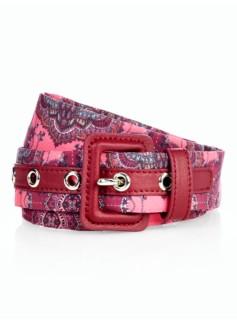 Woman Printed Fabric Belt