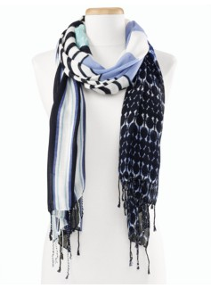 Stripes & Geometric Scarf