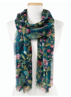 Peacock Forest Scarf