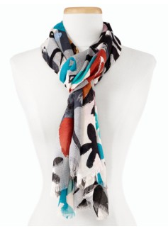 Painted Flower Scarf
