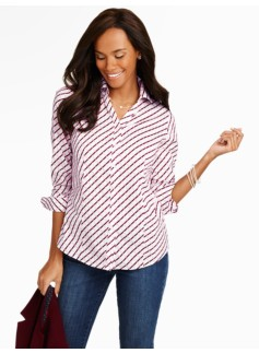 The Perfect Long-Sleeve Shirt - Grid Pattern