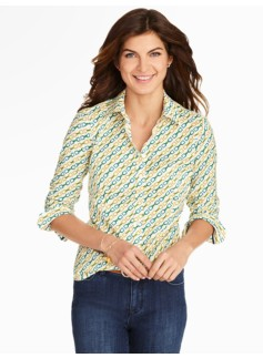 The Perfect Buckle Print Long-Sleeve Shirt