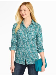 Griffin Print Button-Front Shirt