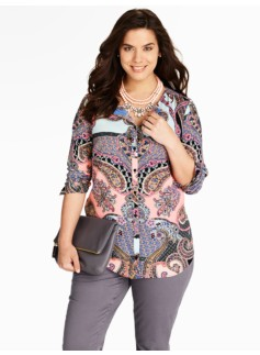 Multi-Paisley Blouse