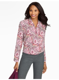 Flower & Vine Wrap Blouse