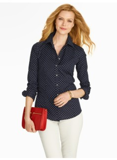 The Perfect Long-Sleeve Shirt - Fun Dot Print