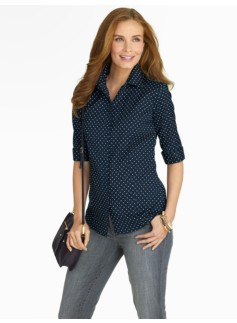 The Perfect Elbow-Sleeve Shirt - Fun Dots