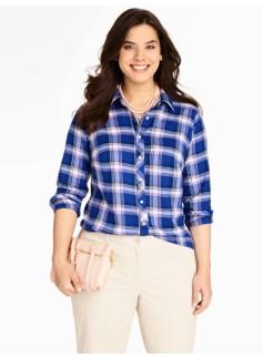 Twilight Plaid Cotton Shirt