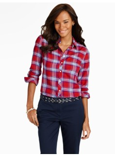 Twilight Plaid Cotton Shirt