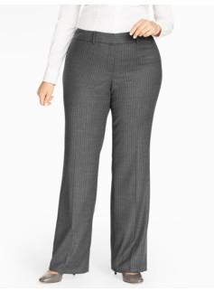 Pinstripe Wide-Leg Pant