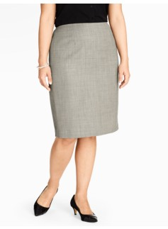 Graphic Bird's-Eye Pencil Skirt