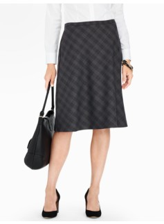 Tartan Shadow-Plaid Full Skirt