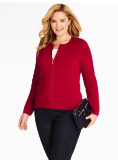 Milano Zip-Front Sweater