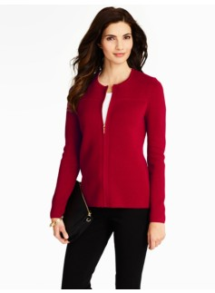 Milano Zip-Front Sweater