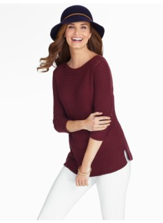 Basketweave Bateau Sweater
