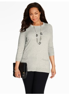Marled Zip-Back Sweater