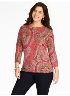 Paisley Cashmere Audrey Sweater