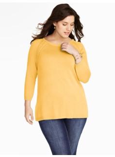 Braided-Raglan Sweater