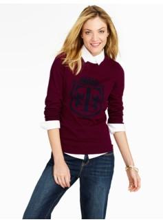 Talbots Crest Jacquard Sweater