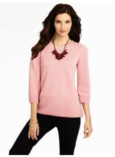 Mixed-Stitch Dolman Sweater