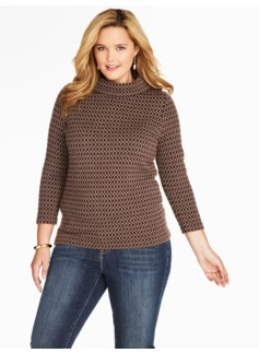 Merino Honeycomb Jacquard Sweater