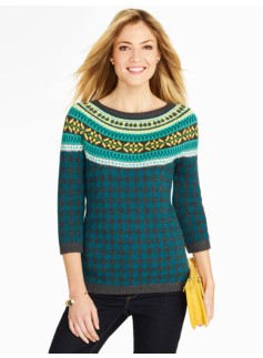 Fair Isle and Check Sweater