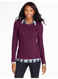 Fisherman-Knit Sweater