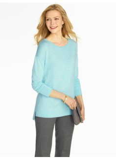 High-Low Hem Merino Wool Sweater