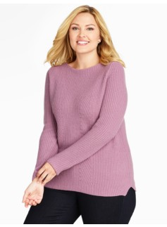 Mixed-Rib and Pointelle Sweater