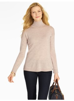 Drop Shoulder Turtleneck