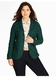 Merino Basketweave Sweater Jacket