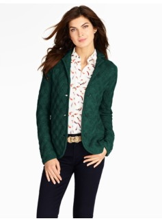Merino Basketweave Sweater Jacket