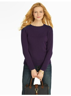 Basketweave-Yoke Sweater