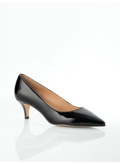 Desi Patent Leather Kitten-Heel Pumps