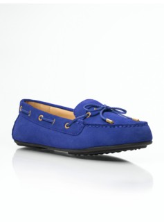 Easton Silk Suede Driving Moccasins
