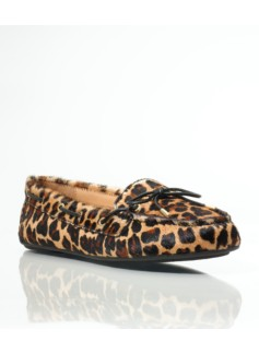 Easton Leopard Haircalf Driving Moccasins
