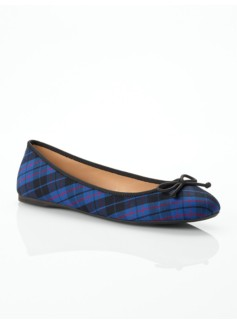 Jilly Bright Plaid Ballet Flats