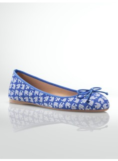 Jilly Angelfish Print Ballet Flats