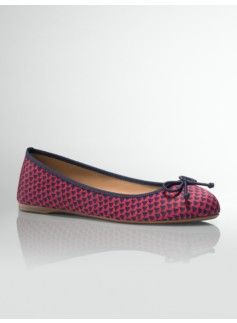 Jilly Sailboat Print Ballet Flats