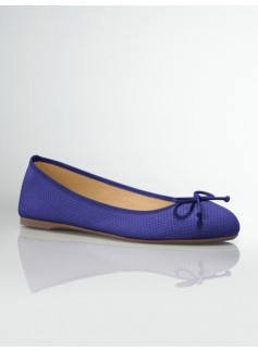 Jilly Laser-Cut Leather Ballet Flats