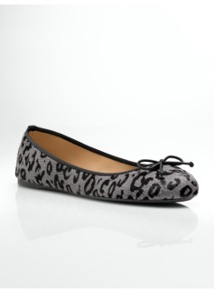 Jilly Leopard Haircalf Ballet flats
