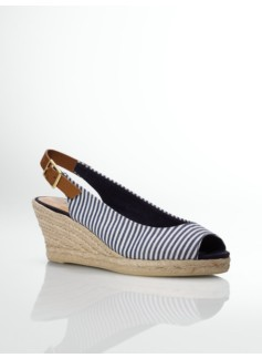 Lacey Striped Slingback Espadrilles