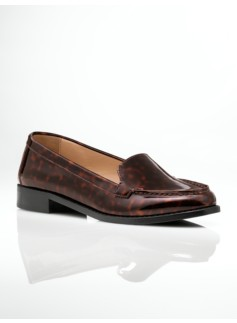 Lee Tortoiseshell Patent-Finish Loafers