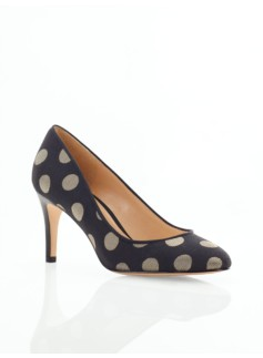 Nori Polka-Dot Jacquard High-Heel Pumps