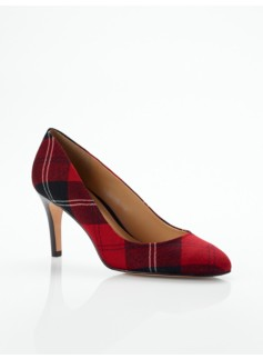 Nori Tartan Plaid High-Heel Pumps