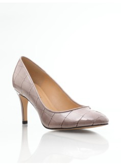 Nori High-Heel Croc-Embossed Pumps